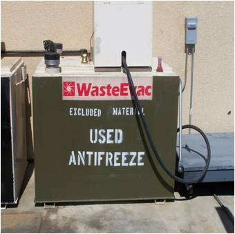 Between January 2007 and January 2011, more than 18,200 gallons of used antifreeze has been recycled and reissued at no cost to activities aboard the Combat Center.
