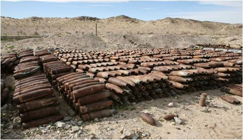 Expended munitions collected from live fire ranges is demilitarized and sold as recycled scrap metal. More than 450 tons of metal is recycled annually.